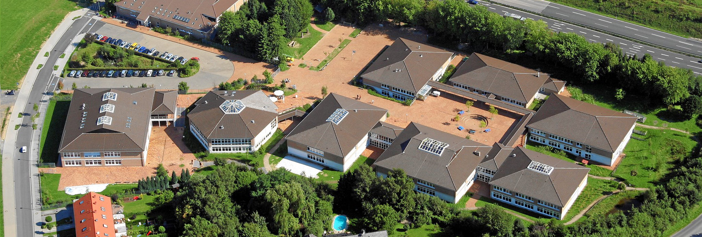 Die Gesamtschule Meiersheide Hennef aus der Luft