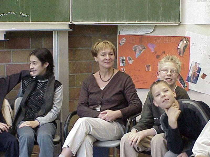 Gesprächsrunde mit Frau Trambacz von pro familia