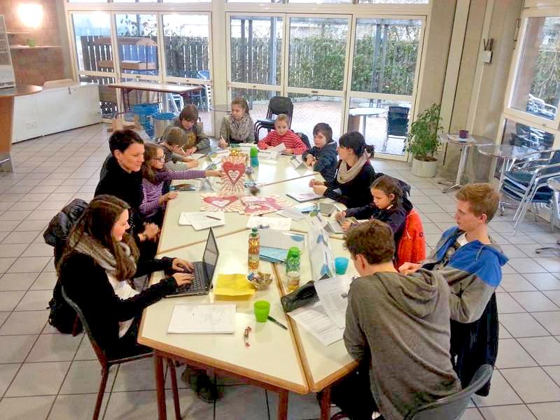 Sitzung des JuPa in der Gesamtschule Meiersheide